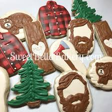 sweetbellabakery lumberjack cookies flannel shirt cookies order