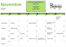 national food days november 2014 preppings