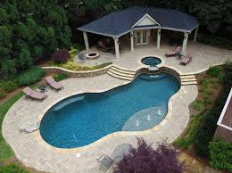 atlanta pool builder freeform in ground swimming pool photos