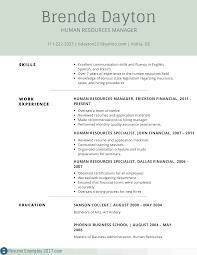 sample resume for human resources manager skill example for resume resume examples and free resume builder skill example for resume this restaurant resume sample will show you how to demonstrate your skills