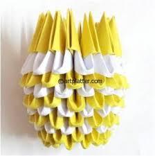 3d Origami Flower Vase Instructions Simple 3d Origami Vase Tutorial U2022 Art Platter
