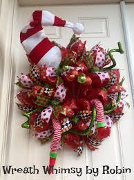 Whimsical Christmas Decorations Ideas Appealing Whimsical Christmas Garland Red And Green Door Of Front