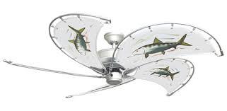 white nautical ceiling fans 52 inch raindance nautical ceiling fan fish canvas blades