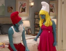 Smurf Halloween Costume Papa Smurf Smurfette Greatest Halloween Couples