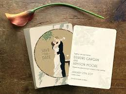 art deco wedding invitations together with art deco great wedding