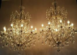 French Chandeliers Uk Very Large Matching Pair French Crystal Chandeliers 387793