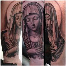 virgin mary tattoo by steve wimmer tattoonow