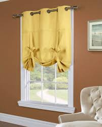 Tie Up Valance Kitchen Curtains Weathermate Yellow Tie Up Panel Pretty Windows In Awesome Tie
