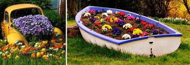 Lawn Decorations For Easter by 22 Landscaping Ideas To Reuse And Recycle Old Boats For Yard