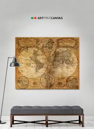Large World Map Poster by Huppy Mugs