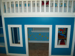 Loft Beds For Kids With Slide Ana White Playhouse Loft Bed With Stairs And Slide Playhouse