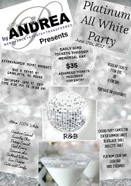 platinum all white party old 105 3