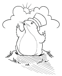 Groundhog Coloring Pages Preschool Free Day A Kids Vonsurroquen Me Groundhog Color Page