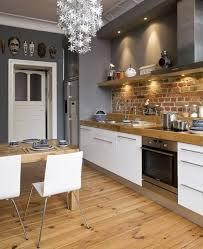 Kitchen Small Kitchen With Brick Backsplash 20 Minimalist Exposed