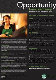 Starbucks Barista Responsibilities Resume Pt Sari Coffee Indonesia Starbucks Indonesia Linkedin