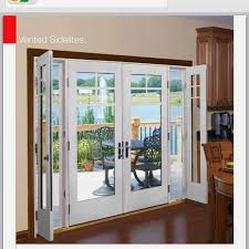 Patio Doors With Windows That Open Therma Tru Vented Sidelites Patio Doors Patios And Shades Blinds