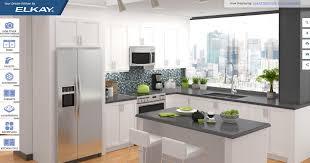 elkay kitchen cabinets virtual showroom design tool elkay