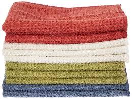 Waffle Weave Kitchen Towels Amazon Com Eurow Microfiber Waffle Weave Multipurpose Dish Cloths