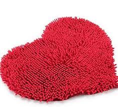 Red Carpet Rug Amazon Com Red Heart Love Microfiber Chenille Soft Fluffy Rug