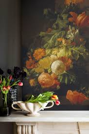 23 best dark florals images on pinterest wall murals bespoke a vase of flowers poppies and peonies mural by elias van den broeck