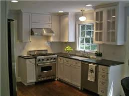 Small Kitchen Remodel Featuring Slate by White Kitchen With Great Lighting About The Sink And A White