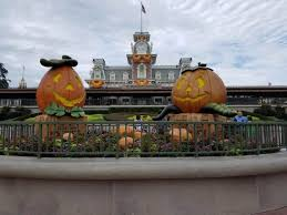 are the halloween decorations up at disney world yet
