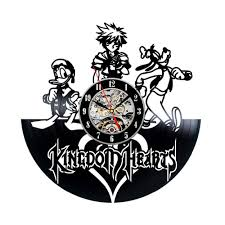 home design story friends kingdom hearts anime vinyl record design wall clock decorate your