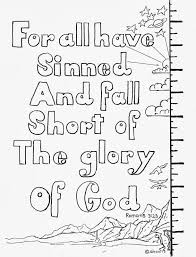 coloring pages for kids by mr adron romans 3 23 for all have