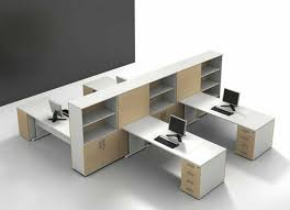 Architecture Modern Office Space Furniture Set With White Office