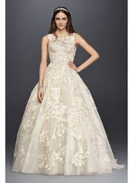 oleg cassini wedding dress oleg cassini high neck tank lace wedding dress david s bridal