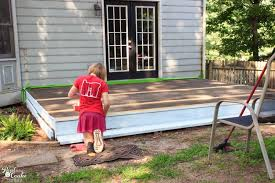 family project diy deck restore of a small deck u2013 part 3