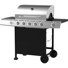 backyard charcoal grill amazon com 5 burner gas grill stainless steel black patio lawn