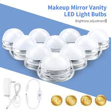 vanity makeup mirror with light bulbs vanity makeup led light bulbs kit stepless dimmable 10 bulbs