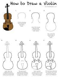 printable activity sheet kids draw violin