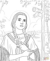st kateri tekakwitha coloring page free printable coloring pages