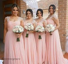 Summer Garden Wedding Guest Dresses - long chiffon pastel bridesmaid dresses canada best selling long