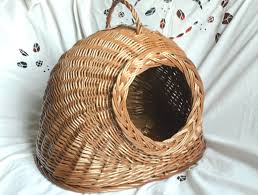 cat wicker basket cat or small dog wicker housecat basket