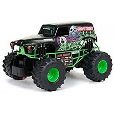 amazon bright monster jam grave digger rc car 1 24