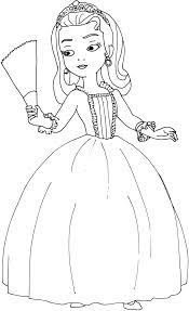 sofia the princess coloring pages for kids free coloring pages