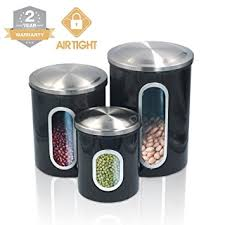 amazon com kitchen food storage canister set for ideahome