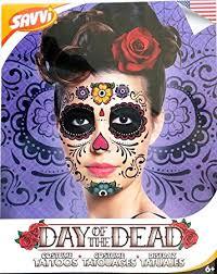 amazon com floral day of the dead sugar skull temporary