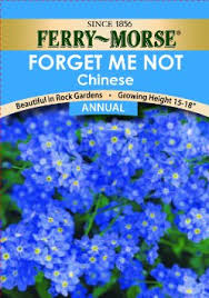 forget me not seed packets buy ferry morse perennial flower seeds 1050 forget me not blue