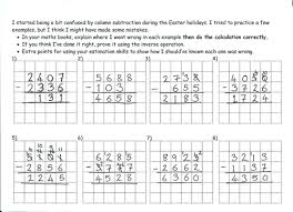 deliberate column subtraction mistakes by marrog teaching