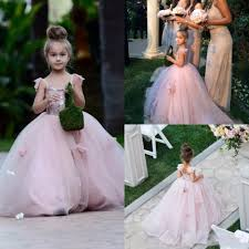 blush junior bridesmaid dresses aliexpress buy 2017 blush pink flower dresses