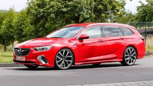 opel red opel insignia gsi wagon spied without any camo