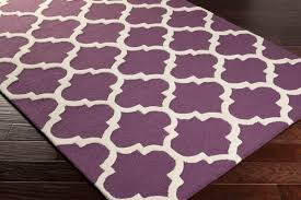 Area Rugs With Purple Artistic Weavers Pollack Stella Awah2031 Purple White Area Rug