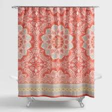 Salmon Colored Shower Curtain Shower Curtains U0026 Shower Curtain Rings World Market