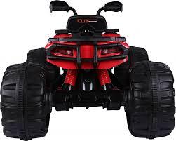 kids red jeep rocket predatour extreme kids 24v ride on electric quad jeep car