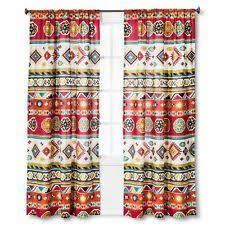 Multi Colored Curtains Drapes Mudhut Curtains Drapes Valances Ebay