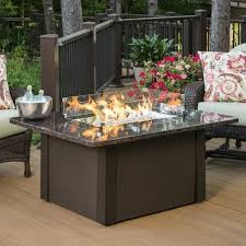 Fire Patio Table by The Outdoor Greatroom Company Grandstone Crystal Fire Pit Table